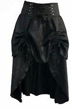 Nuevo Punk Gótico Vapor de satén negro corsé de encaje arriba Burlesque Falda talla 16 18 20