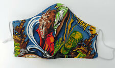 """Retro Monster Movie Face Mask Retro Horror Face Covering/Mask 8""""x5"""" Adjustable"""