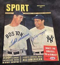 Ted Williams & Joe DiMaggio Signed 8x10 Photo Autograph W/ Coa