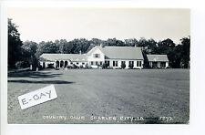 Charles City IA Iowa (Floyd Co) RPPC real photo Country Club, tiny people