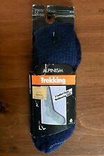 Vintage ALPINISM Navy Blue Wool Blend Men's Trekking Socks, Size Large (10-13)