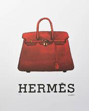 Fairchild Paris Hermes Red Birkin Kelly Handbag Purse Wall Art Poster