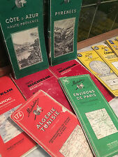 French Vintage Michelin Maps and Guides