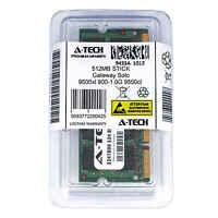 512MB SODIMM Gateway Solo 9500xl 900-1.0G 9550cl 9550cl Deluxe Ram Memory