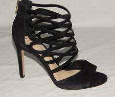 """VINCE CAMUTO Women's """"Kirsi"""" Black Suede Strappy Heeled Caged Sandals Size 8.5 M"""