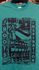 Roots Reggae T Shirt racines inspiration DUBPLATE Dub Sound System (M) (vert)