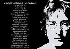 La vida de inspiración / Póster motivacional John Lennon Imagine Letras