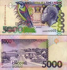 St. THOMAS & PRINCE - 5000 dobras 2004 UNC