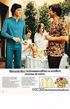 PUBLICITE ADVERTISING  1974    HOM  sous vetements pyjama BIJAMA