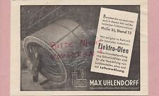 BERLIN-HOHENSCHÖNHAUSEN, Werbung 1939, Max Uhlendorff Industrie-Elektro-Ofenbau