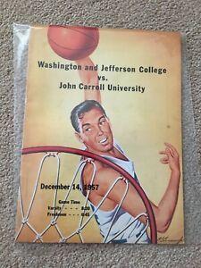 FM8-53 12-14-1957 W&J vs JOHN CARROLL College basketball program vintage