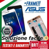 DISPLAY LCD+TOUCH SCREEN+FRAME ASUS ZENFONE 3 MAX ZC520TL X008D ORIGINALE VETRO!
