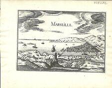 Carte antique, Marseille / MARSEILLE