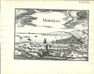 Antique map, Marseille/ Marseilles