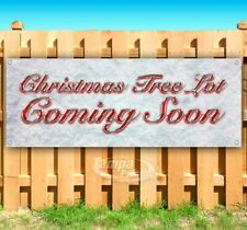 Christmas Tree Lot Coming Soon Advertising Vinyl Banner Flag Sign Many Sizes
