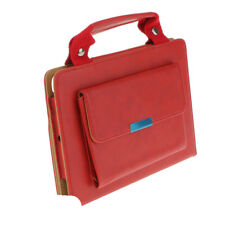 Carrying Handbag PU Leather Case Smart Cover Stand for iPad Mini 1/2/3 Red