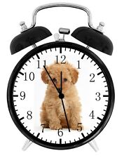 Cute Poodle Puppy Alarm Desk Clock Home or Office Decor F20 Nice Gift