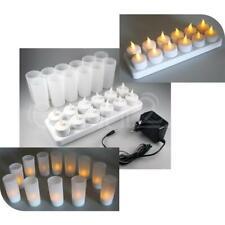 LED Kerzen Teelichter mit Ladestation 12er-Set