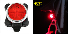three LED rear USB rechargeable red light for road mountain bike bicycle