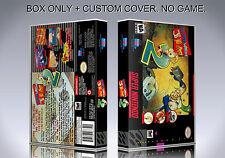 EARTHWORM JIM 2. Box/Case. Super Nintendo. BOX + COVER. (NO GAME).