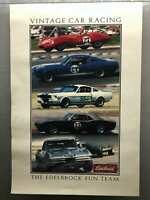 1990s Vintage Car Racing Edelbrock Fun Team Poster USA