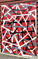 40x30 ORIGINAL SIGNED GEOMETRIC PAINTING STRETCHED CANVAS & READY TO HANG!
