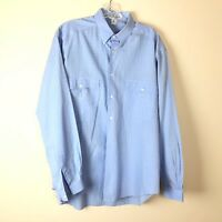 Giorgio Armani Dress Shirt 15 1/2 Le Collezioni Italy Blue Windowpane Plaid
