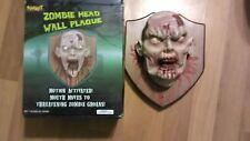 Lifesize Animated Zombie Head Wall Plaque Spirit Halloween Prop Decoration