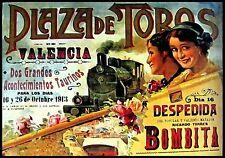 MAGNET BULLFIGHTING Plaza de Toros en VALENCIA 1913 Not Real Poster