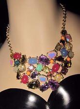 Betsey Johnson Sweet Shop Bib Statement Necklace Multi Colored Stones