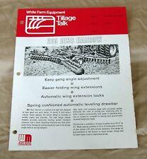 "Vintage White Farm Equipment 263 Disc ""Tillage Talk"" Dealer Brochure-ca 1970!"