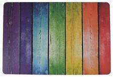 Schreibtischunterlage Motiv: bunter Zaun rot, grün, gelb 40 x 60 cm 2. Wahl