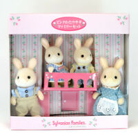Sylvanian Families PINK COTTONTAIL RABBIT FAMILY Calico Critters Japan Fan Club