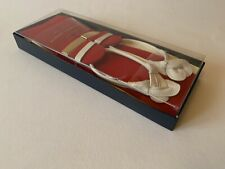 Brand New Albert Thurston Men's Braces - Red Boxcloth  - Size - Extra Large