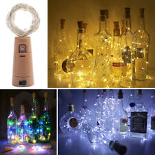 10 20 LED String Battery Copper Wine Bottle Wire Fairy Lights Party Christmas AU
