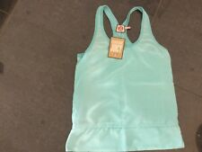 NWT Juicy Couture New & Genuine Ladies Size Small 8/10 Turquoise Silk Tank