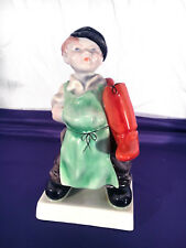 1964 HEREND PORCELAIN Shoemaker's Apprentice Figurine 5493, 125th Anniversary