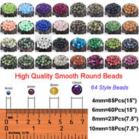 Natural Gemstone Round Spacer Loose Beads 4MM 6MM 8MM 10MM Jewelry Design