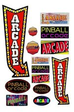 1:87 Ho scale model pinball video arcade signs