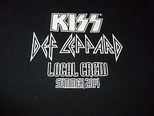 Kiss/Def Leppard RARE Crew Tour Shirt ( Size XL ) NEW DEADSTOCK!!!