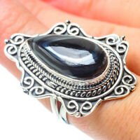Huge Psilomelane 925 Sterling Silver Ring Size 7.5 Ana Co Jewelry R31123F