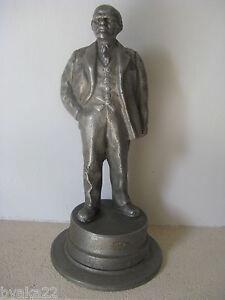 CCCP Sculpture Statue LENINE russe fonte d'aluminium Soviétique années1930 URSS