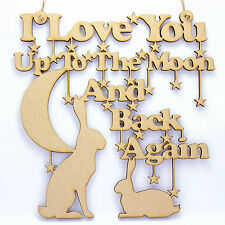 Guess How Much I Love You. Wooden/MDF Hanging Decoration. Nursery Window/Wall