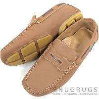 Mens Leather Casual / Formal Slip On Boat / Deck Loafer / Moccasin Shoes