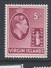 BRITISH VIRGIN ISLANDS :1938 5/- carmine on chalky paper SG 119 mint