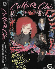 CULTURE CLUB WAKING UP WITH THE HOUSE ON FIRE CASSETTE ALBUM BOY GEORGE Synthpop