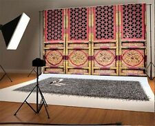Chinese Palace Carving Wooden Door Background 7x5FT Studio Backdrops Vinyl