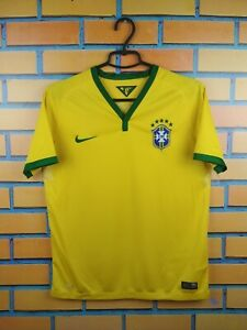 Brazil Brasil Jersey 2014 2016 Home Youth 13-14 Shirt 575297-703 Nike Trikot
