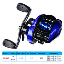 L/R Hand UltraLight Fishing Reel Double Metal Spool Fishing Bait Casting Reel