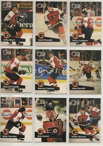 PHILADELPHIA FLYERS ~ 1991-92 Pro Set FRENCH Series 1 TEAM SET ~ 13 Cards ~ HOWE